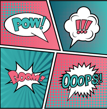 cartoon speech bubbles for your text vector