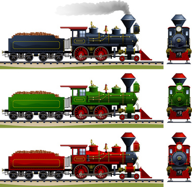 cartoon steam train vector