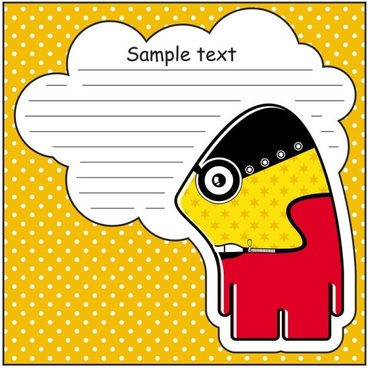 cartoon stickers background 01 vector