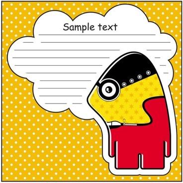 cartoon stickers background 01 vector