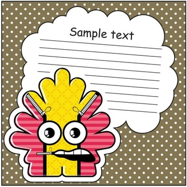 cartoon stickers background 03 vector