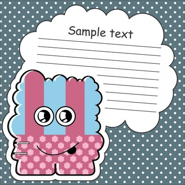 cartoon stickers stickers dialog background vector