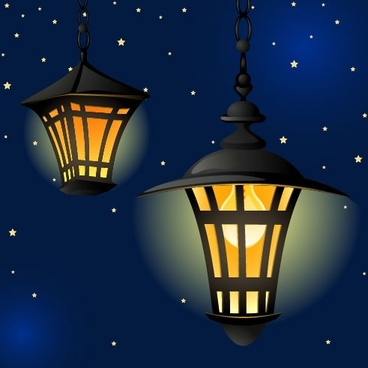 cartoon street light background 05 vector