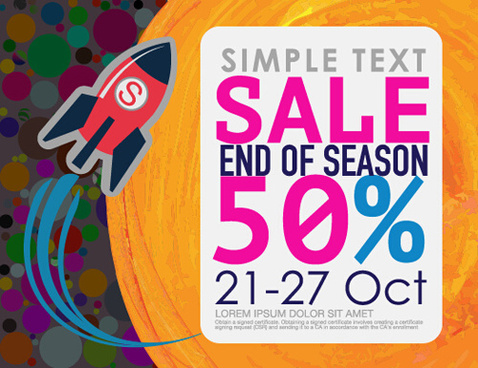 cartoon styles sale poster vectors