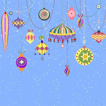 cartoon template with lantern hanging on bright background