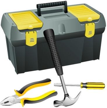 cartoon tools 01 vector