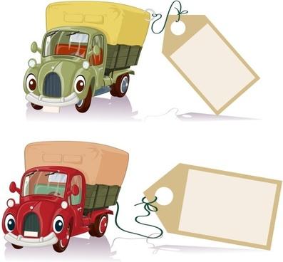 cartoon toy car 01 vector