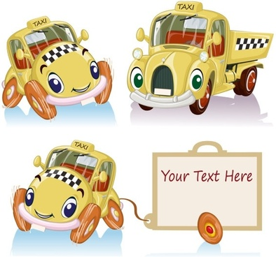 cartoon toy car 02 vector