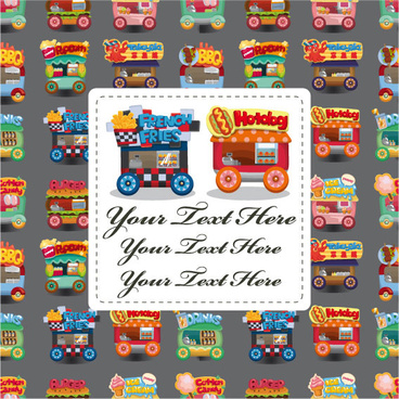 cartoon toy front cover vector background