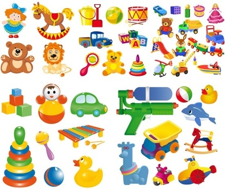 cartoon toy vector