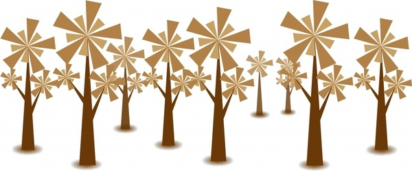 trees background brown geometric design