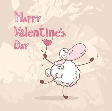 cartoon valentine illustrator 02 vector