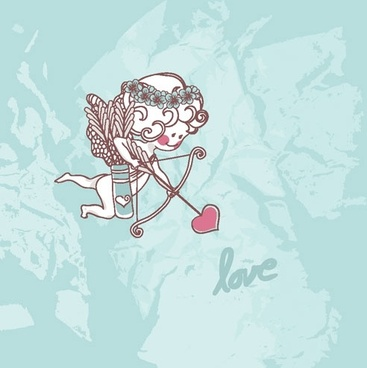 cartoon valentine illustrator 03 vector