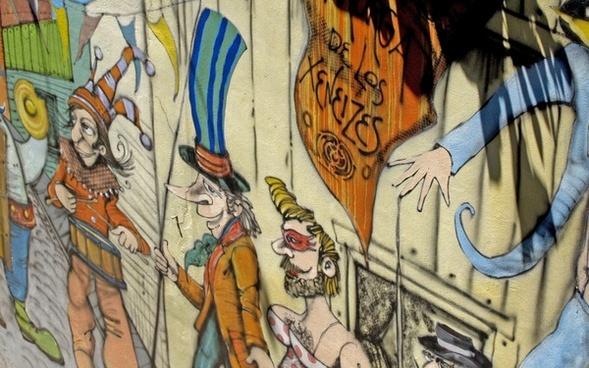 cartoon wall painting