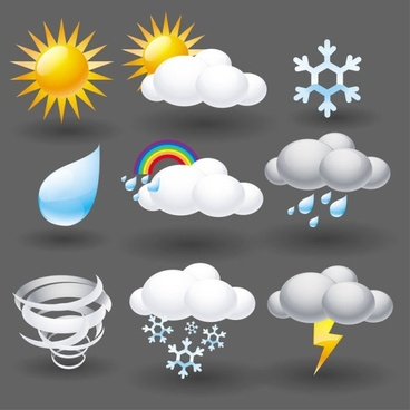 cartoon weather icon 05 vector