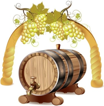 cartoon wine 01 vector