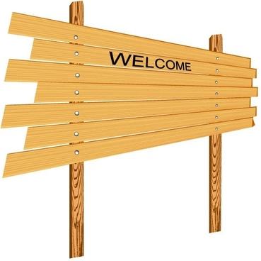 cartoon wooden signs 04 vector