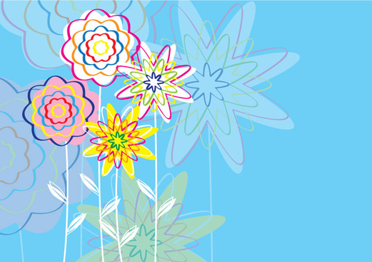 cartoonized flowers design