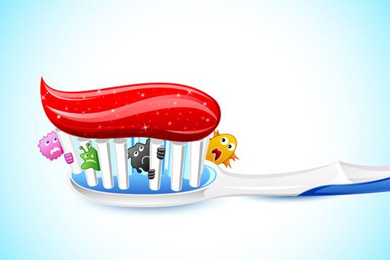 cartoons dental care vector