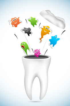 cartoons dental care vector