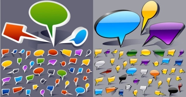 cartoonstyle dialogue bubbles vector