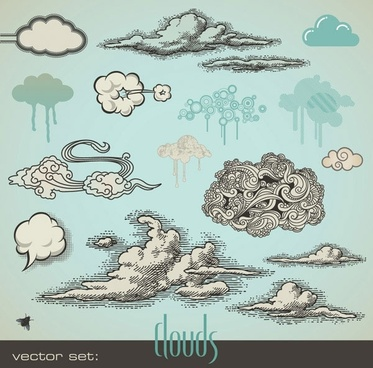 cartoonstyle vector 1 cloud