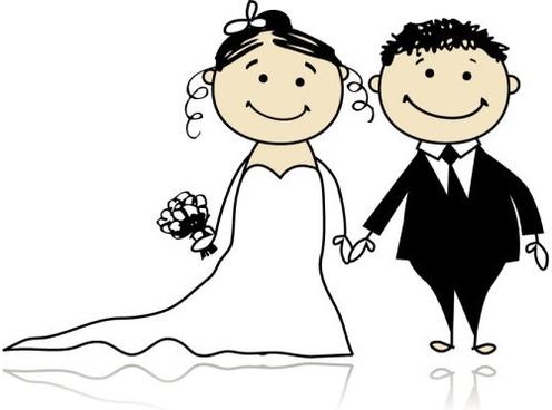 cartoonstyle wedding elements 05 vector