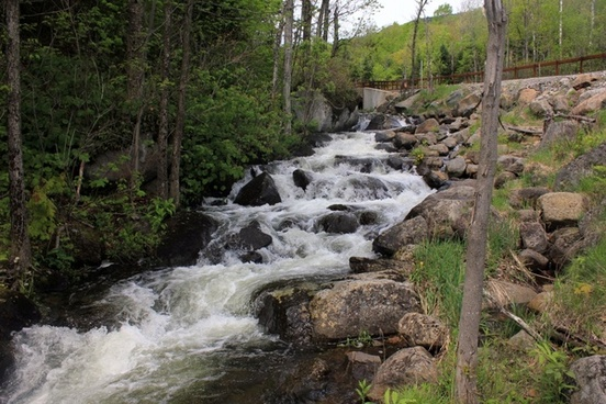 cascading brook in the adirondack mountains new york