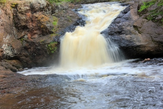 cascading falls at amnicon falls state park wisconsin