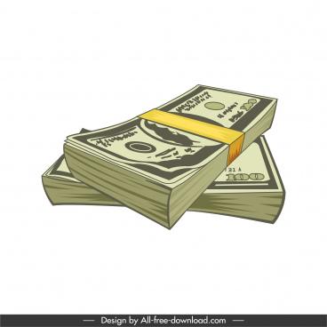cash icon 3d classic sketch