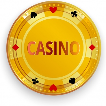casino background template shiny golden dish icon