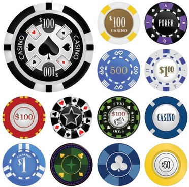 casino chips templates classical colorful flat design