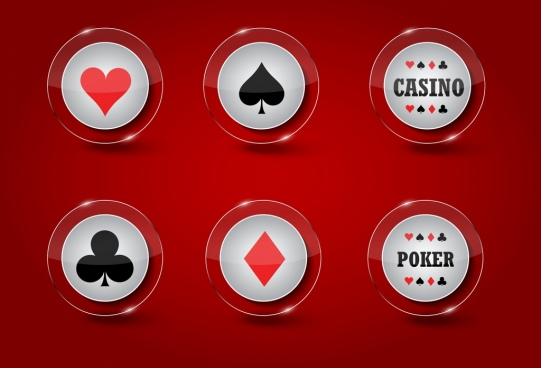 casino design elements shiny transparent circle icons
