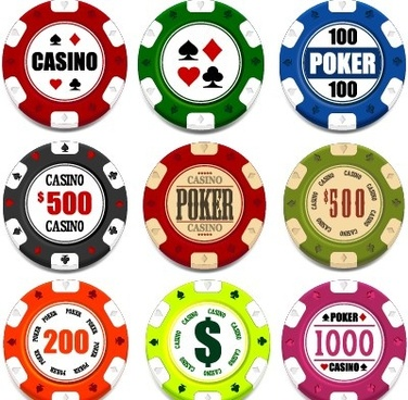 casino elements creative design vector