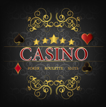 casino poster cover vector