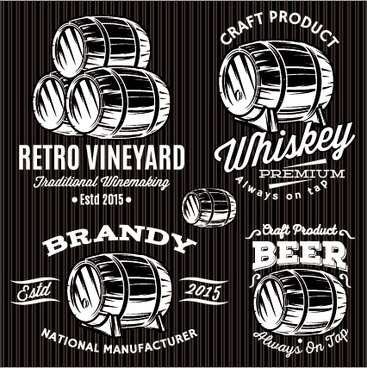 cask beer label vector