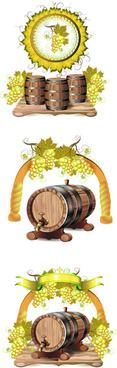 cask wine vector graphic