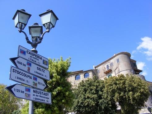casperia italy signs