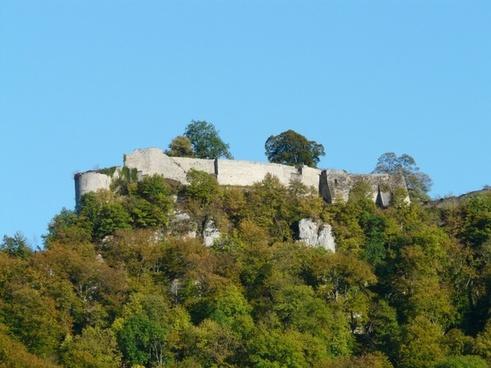 castle ruin high urach