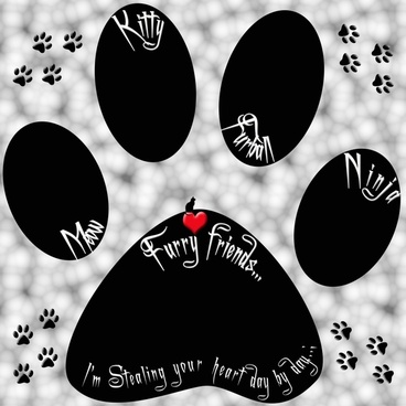 cat paw artwork