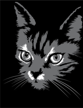 cat silhouette 01 vector