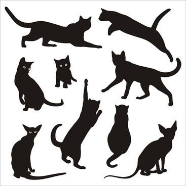 Cat Silhouette Tattoo Designs Free Vector Download 6 840 Free