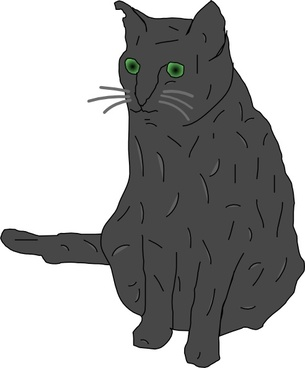 Cat, Smokey clip art