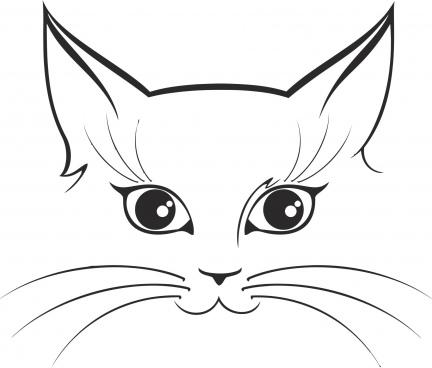 cat sticker free cdr vectors art