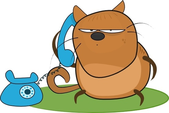 Cat Talking In Phone clip art