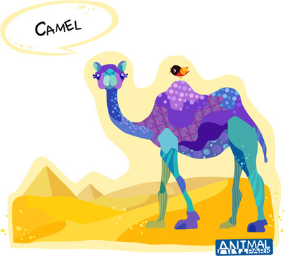 catroon camel vector