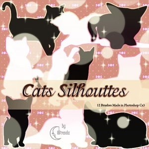 Cats Silhouettes Brushes