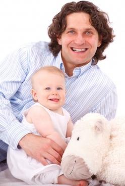 caucasian child dad