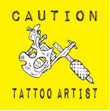 caution tattoo artist