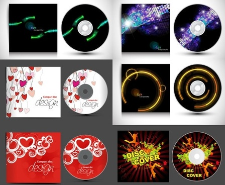 cd and gorgeous packaging vector